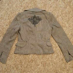 NWT Button up jacket w Angels on back